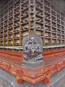 image of alleppey  - Perspective of Shri Krishna Temple wooden framed wall Ambalpura  - JPG