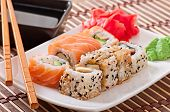 picture of plate fish food  - Japanese food  - JPG