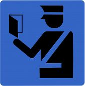 picture of deportation  - Vector Illustration of an Immigration Control Symbol - JPG