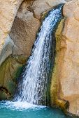 stock photo of tozeur  - Waterfall in mountain oasis Chebika Tunisia Africa - JPG