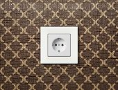 pic of electric socket  - one electric socket - JPG