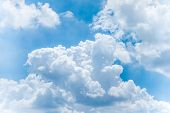 stock photo of stratus  - Cloudy with blue sky on sunny day - JPG