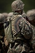 stock photo of military personnel  - United States Military personnel with  - JPG