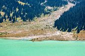 image of shan  - Spectacular scenic Big Almaty Lake Tien Shan Mountains in Almaty KazakhstanAsia at summer
