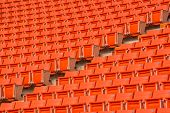 picture of bleachers  - the red seats on stadium steps bleacher - JPG