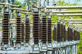 picture of electric station  - Power station for making electric energy at the station - JPG
