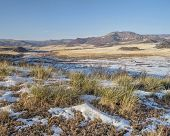 stock photo of collins  - mountain valley at Colorado foothills  - JPG