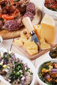 foto of antipasto  - Tapas or antipasto food - JPG