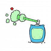 picture of spray can  - retro comic book style cartoon aerosol spray can - JPG