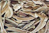 picture of ling  - Piles of dried Shiitake herbal mushroom background - JPG