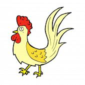 picture of cockerels  - retro comic book style cartoon cockerel - JPG