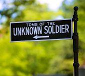 image of arlington cemetery  - Arlington National Cemetery Unknown soldier sign Virginia VA near Washington DC USA - JPG