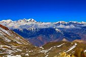 picture of snow capped mountains  - Snow capped mountains - JPG