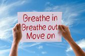 picture of breathing exercise  - Breathe In Breathe Out Move On card with sky background - JPG