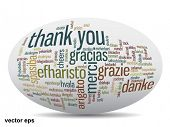 image of appreciation  - Vector concept or conceptual abstract thank you word cloud in different languages or multilingual for education or thanksgiving day - JPG