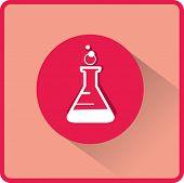 stock photo of beaker  - flat beaker icon - JPG