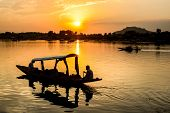 picture of jammu kashmir  - Sunset Dal Lake in Srinagar Jammu and Kashmir state India - JPG