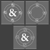 picture of ampersand  - Set of three flat frames and ampersand - JPG