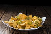 foto of nachos  - Nachos with Cheese Sauce  - JPG