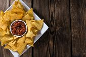 stock photo of nachos  - Portion of Nachos  - JPG