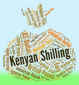 picture of shilling  - Kenyan Shilling Showing Exchange Rate And Text - JPG