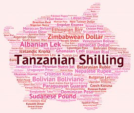 foto of shilling  - Tanzanian Shilling Representing Currency Exchange And Word - JPG