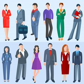 image of avatar  - Set men and women of business topics isolated - JPG