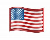 stock photo of usa flag  - United States Flag Icon - JPG