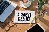 Achieve Result , Results Compass , Businessman Achieve Result ,  Results And Expectations , Get Resu poster