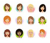 Worried Woman Faces. Worried Face Icons. Worried Women poster