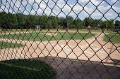 picture of little-league  - a little league baseball field from behind the backstop - JPG