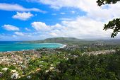 Panoramic view of Baracoa in the Guantanamo province, Cuba