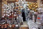 foto of shiraz  - Pots store in old bazar in Shiraz - JPG