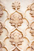 stock photo of shiraz  - Beautiful marble carvings on famous Vakil mosque in Shiraz - JPG