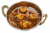 stock photo of kadai  - prawn curry  - JPG