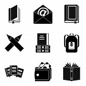 Writer Icons Set. Simple Set Of 9 Writer Icons For Web Isolated On White Background poster