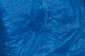 Blue Plastic Texture Of Crumpled  Piece Of Cellophane poster