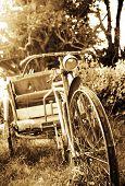 foto of rickshaw  - old rickshaw - JPG