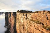 stock photo of canaima  - Sheer cliffs of Mount Roraima  - JPG