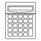 Calculator Math Device Icon. Outline Illustration Of C Alculator Math Device Icon For Web poster