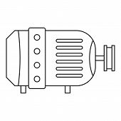 Electric Motor Icon. Outline Illustration Of Electric Motor Icon For Web poster