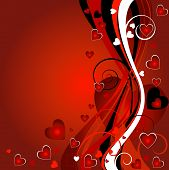 picture of valentines day card  - abstract floral heart background for the valentine - JPG