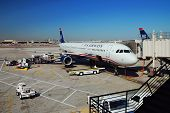 PHOENIX, AZ - MAR 3: US Airways airplane waits to take off on March 3, 2010 in Phoenix, Arizona. US