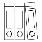 Archive Folders Icon. Outline Illustration Of Archive Folders Icon For Web poster
