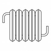 Iron Central Heating Battery Icon. Outline Illustration Of Iron Central Heating Battery Icon For Web poster