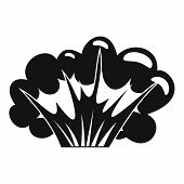 High Powered Explosion Icon. Simple Illustration Of High Powered Explosion Icon For Web poster