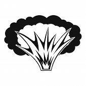 Atomical Explosion Icon. Simple Illustration Of Atomical Explosion Icon For Web poster