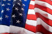 image of waving american flag  - American flag background - JPG