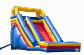 picture of bounce house  - bounce house for kids with slide isolated on white - JPG