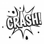 Crash Explosion Icon. Simple Illustration Of Crash Explosion Icon For Web poster